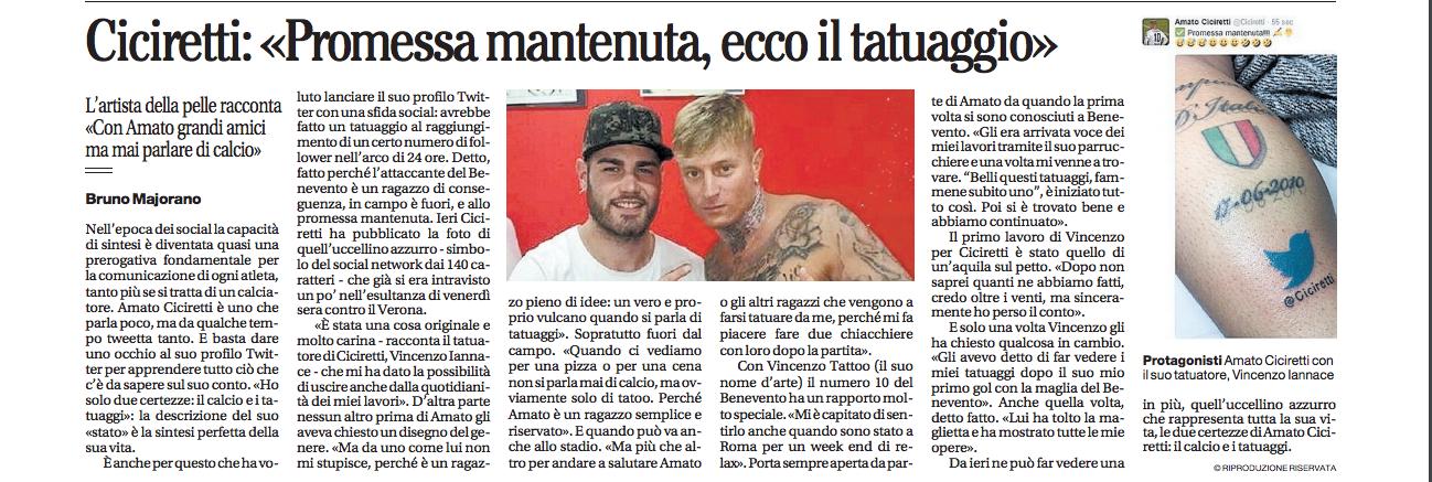 Amato Ciciretti sul Mattino (07/02/2017)