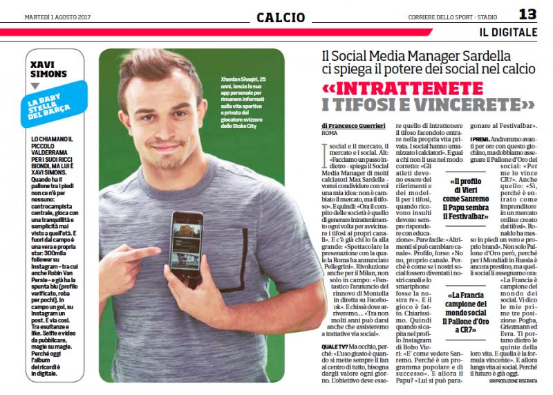 Max Sardella Corriere dello Sport
